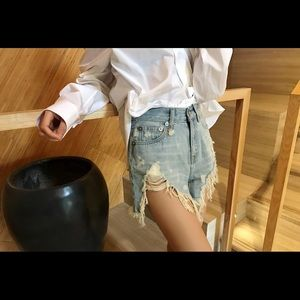 *Basic Short* Ripped denim short